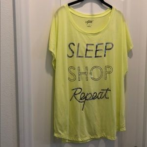 Style & co yellow tee shirt nighty brand new